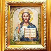Картины и панно ручной работы. Ярмарка Мастеров - ручная работа Иисус Вседержитель. Handmade.