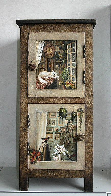 """Мебель ручной работы. Ярмарка Мастеров - ручная работа. Купить тумбочка  """"путешествие"""". Handmade. Мебель, дерево"""