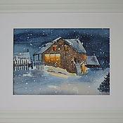 Картины и панно handmade. Livemaster - original item Pictures: Winter evening. Handmade.