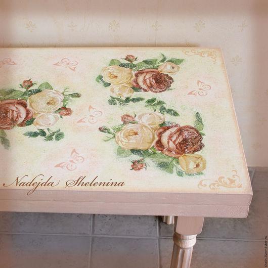 Мебель ручной работы. Ярмарка Мастеров - ручная работа. Купить Скамья Нежный Прованс. Handmade. Розовый, гостиная, дизайн
