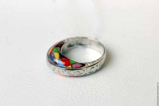 """Кольца ручной работы. Ярмарка Мастеров - ручная работа. Купить Кольцо """"Лето"""". Handmade. Комбинированный, кольцо со стеклом, финифть"""