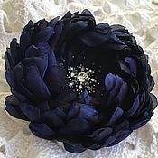 Украшения ручной работы. Ярмарка Мастеров - ручная работа Синяя брошь-цветок Ночное небо. Handmade.