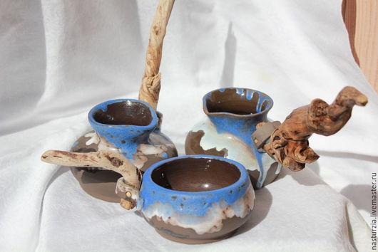 Сервизы, чайные пары ручной работы. Ярмарка Мастеров - ручная работа. Купить Кофейный набор Бенихо. Handmade. Серый, Керамика