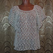 Одежда ручной работы. Ярмарка Мастеров - ручная работа Блузка белая. Handmade.