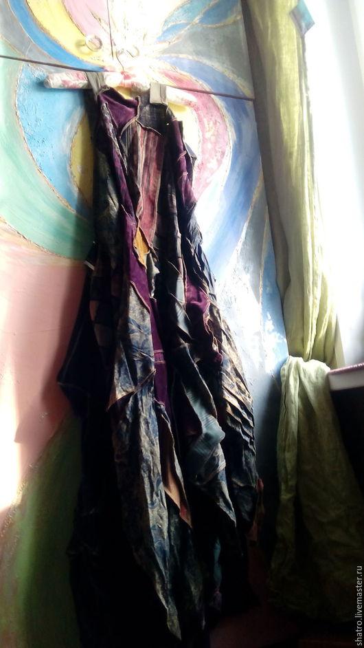 Платья ручной работы. Ярмарка Мастеров - ручная работа. Купить бохо-платье ВИШНЯ В ШОКОЛАДЕ. Handmade. Бордовый
