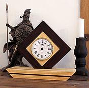 Для дома и интерьера ручной работы. Ярмарка Мастеров - ручная работа Часы настольные авторские ручной работы из массива немецкие. Handmade.