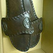 Обувь ручной работы. Ярмарка Мастеров - ручная работа тапки мужские,подарочные. Handmade.
