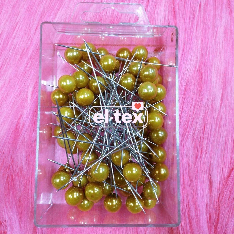 Gold sand corsage pins, set of 72 PCs, art. 62220, Needles pins, Moscow,  Фото №1