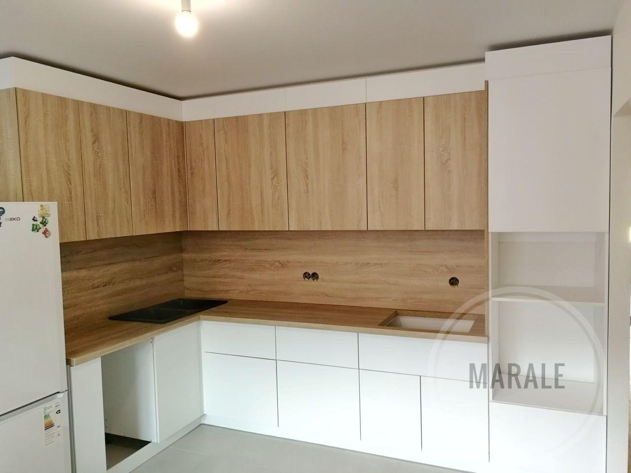Светлая современная кухня без ручек – заказать на Ярмарке Мастеров – ME7O4RU | Кухня, Москва