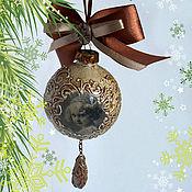 """Для дома и интерьера ручной работы. Ярмарка Мастеров - ручная работа Елочные шары """"Старый новый год"""" 5 шт.. Handmade."""