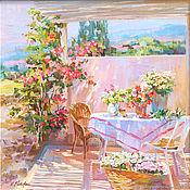 Картины и панно handmade. Livemaster - original item Pictures: Sun terrace. Handmade.