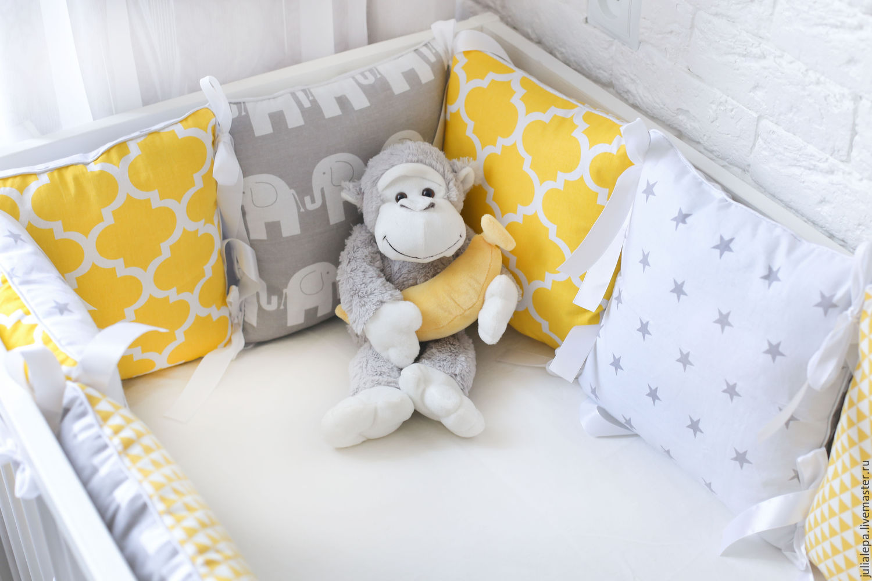Подушки в кроватку своими руками схемы