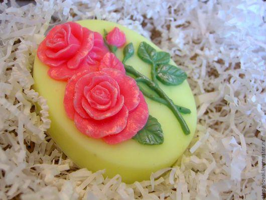 Мыло ручной работы. Ярмарка Мастеров - ручная работа. Купить Мыло ручной работы-Розовый букет. Handmade. Мыло