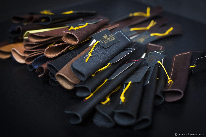 Чехол для ручки из натуральной кожи ручной работы, Ручки, Санкт-Петербург,  Фото №1