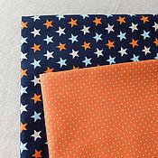 Материалы для творчества ручной работы. Ярмарка Мастеров - ручная работа Корейский хлопок ткани-компаньоны Звезды-2. Handmade.