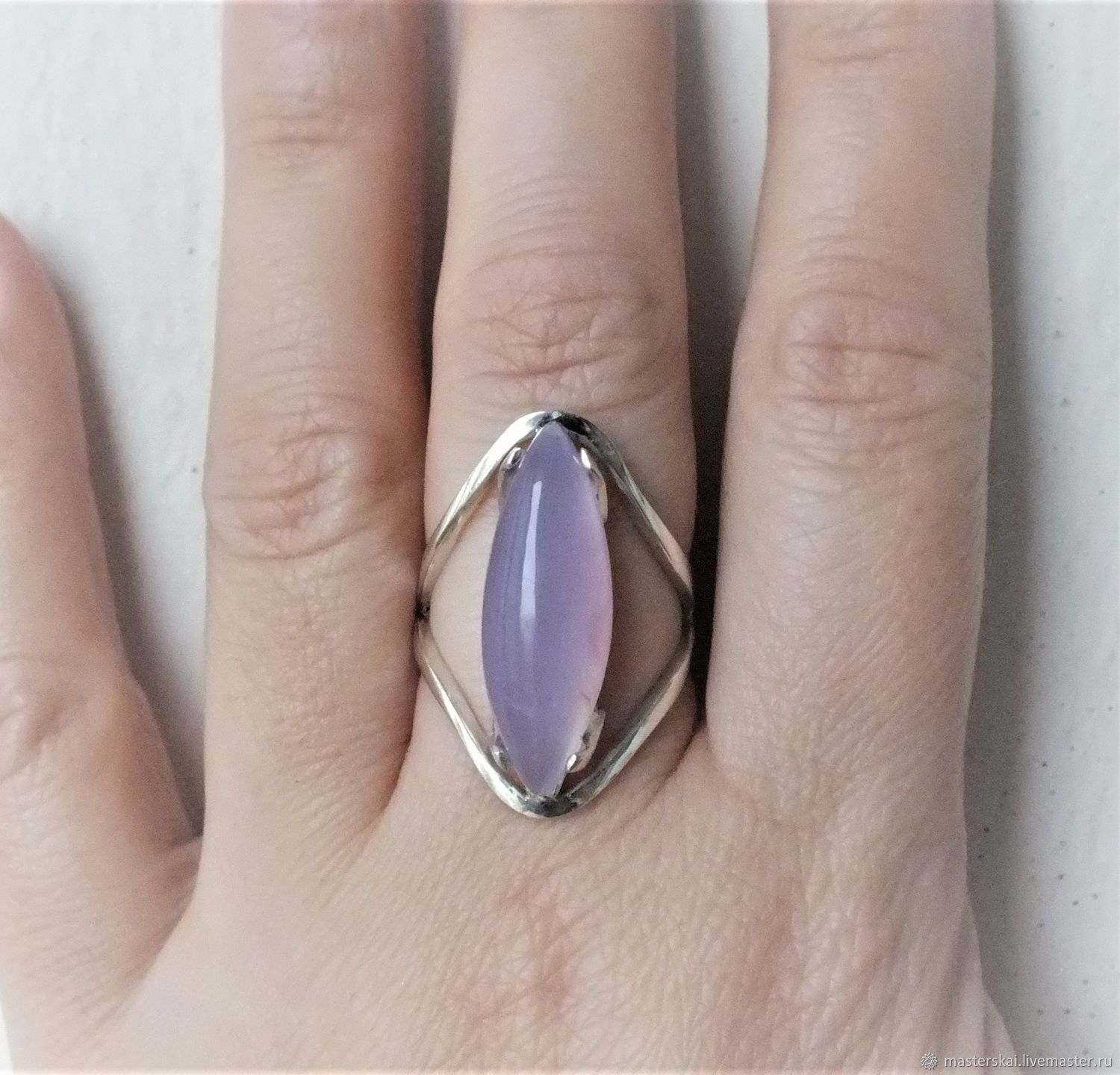 Ring: ' Lavessi ' - lavender agate, silver, Rings, Moscow,  Фото №1