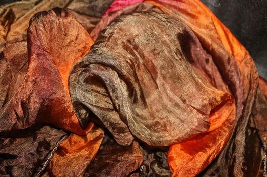 """Валяние ручной работы. Ярмарка Мастеров - ручная работа. Купить Палантин  """"Осенний джаз """", 100% шелк. Handmade. Комбинированный"""
