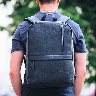 Bags and accessories handmade. Livemaster - original item Leather backpack for men