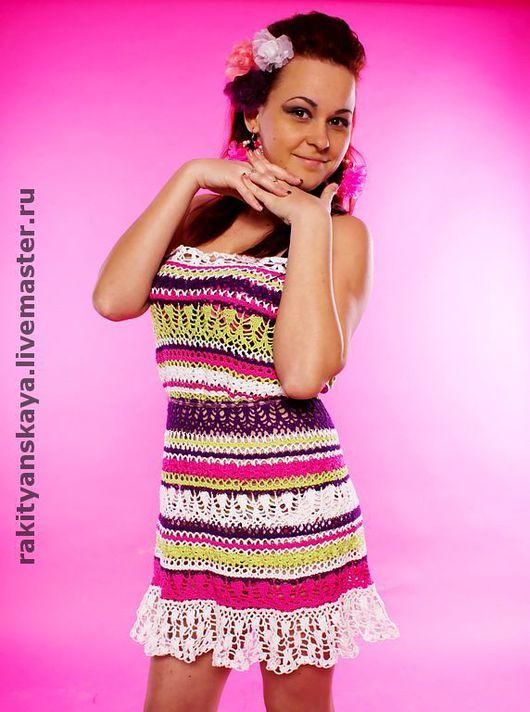 """Платья ручной работы. Ярмарка Мастеров - ручная работа. Купить Cарафан """"Verano"""". Handmade. Сарафан, вязаное платье крючком, платье"""