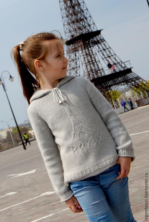 Вязание ручной работы. Ярмарка Мастеров - ручная работа. Купить Paris (описание). Handmade. Серый, авторская схема