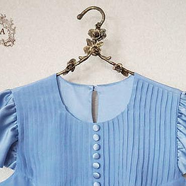"""Одежда ручной работы. Ярмарка Мастеров - ручная работа Блузка шелковая """"Голубка"""". Handmade."""