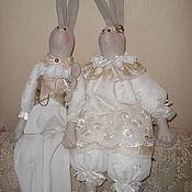 Куклы и игрушки ручной работы. Ярмарка Мастеров - ручная работа кукла зайчики. Handmade.