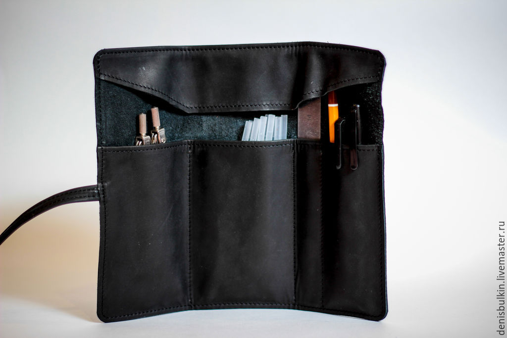 Pencil case made of genuine leather, Canisters, Penza,  Фото №1