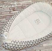 Кокон-гнездо ручной работы. Ярмарка Мастеров - ручная работа Гнездышко-кокон для новорожденного. Handmade.