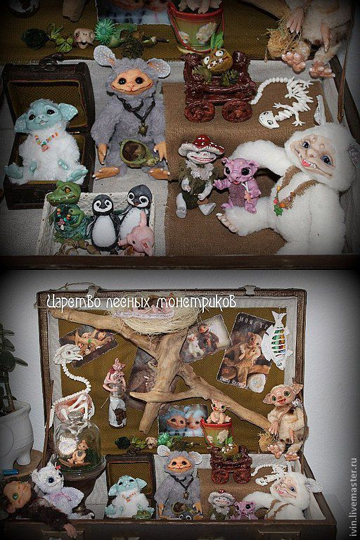 Сказочные персонажи ручной работы. Ярмарка Мастеров - ручная работа. Купить Монстрики: Мальмон, Ёрк(девочка), Еглок, Сванит(девочка). Handmade. Монстр