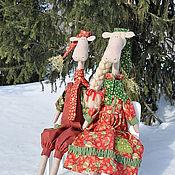 Куклы и игрушки ручной работы. Ярмарка Мастеров - ручная работа ЛОСИКИ - НОВОГОДНИЕ!. Handmade.