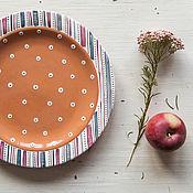Посуда handmade. Livemaster - original item Plum pudding. Handmade plate, ceramics. Handmade.