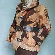 Одежда ручной работы. Ярмарка Мастеров - ручная работа Зимняя вязаная куртка в стиле фриформ, пэчворк, бохо. Handmade.