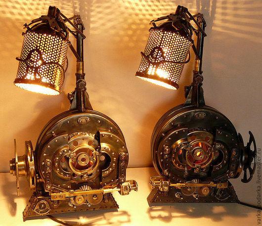 Освещение ручной работы. Ярмарка Мастеров - ручная работа. Купить Корабельные силовые установки. Handmade. Золотой, корабль, латунь