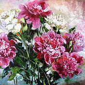 Картины и панно handmade. Livemaster - original item Peonies Oil painting on canvas Garden flowers Gift painting wall art. Handmade.