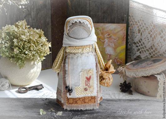 Народные куклы ручной работы. Ярмарка Мастеров - ручная работа. Купить кукла Ангел солнечного апреля.. Handmade. Бежевый