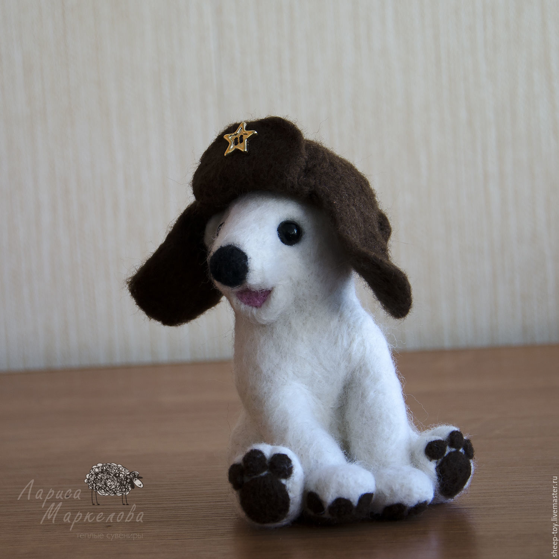 Валяная игрушка. Белый мишка, Войлочная игрушка, Коломна,  Фото №1