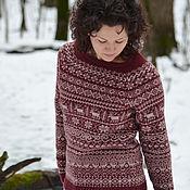 """Одежда ручной работы. Ярмарка Мастеров - ручная работа """"Олений"""" свитер. Handmade."""