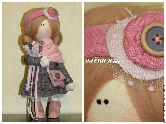 Куклы Тильды ручной работы. Ярмарка Мастеров - ручная работа. Купить Кукла текстиль, интерьерная кукла.. Handmade. розовый