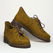 """Обувь ручной работы. Ярмарка Мастеров - ручная работа Валяные туфли """"Дижон"""". Handmade."""