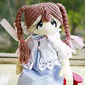Куклы и игрушки ручной работы. Ярмарка Мастеров - ручная работа Викуся (19 см сидя). Handmade.