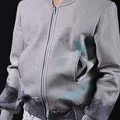 """Одежда ручной работы. Ярмарка Мастеров - ручная работа Куртка  бомбер валяная мужская """"Путешественник"""". Handmade."""