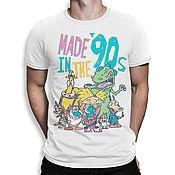 """Одежда handmade. Livemaster - original item Футболка хлопковая """"Любимые мультки из 90х"""". Handmade."""