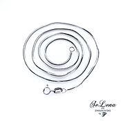 Украшения handmade. Livemaster - original item 925 silver chain in rhodium plating, weaving Snake, Flagellum. Handmade.