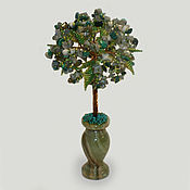 handmade. Livemaster - original item Tree of Labrador and malachite
