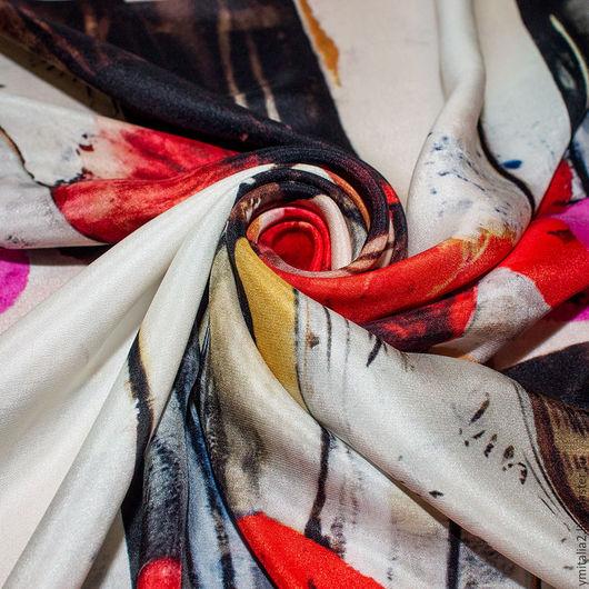 Шитье ручной работы. Ярмарка Мастеров - ручная работа. Купить Итальянский  шелк  ROBERTO CAVALLI  МАКИ. Handmade. Ткани Италии