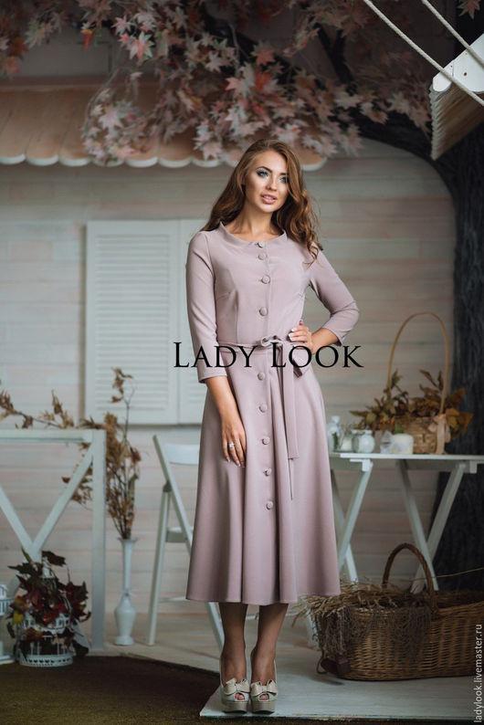 Платья ручной работы. Ярмарка Мастеров - ручная работа. Купить Платье look 269. Handmade. Бледно-розовый, костюмная ткань
