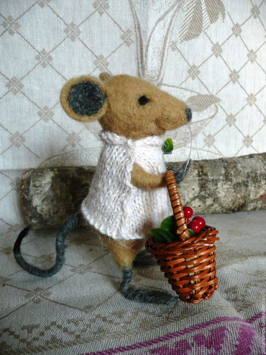 Игрушки животные, ручной работы. Ярмарка Мастеров - ручная работа. Купить Мышь Орабель, Авторская валяная игрушка. Продана. Handmade.