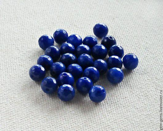 Для украшений ручной работы. Ярмарка Мастеров - ручная работа. Купить Бусины из натуральных камней 8 мм темно-синие B101. Handmade.