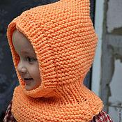 """Работы для детей, ручной работы. Ярмарка Мастеров - ручная работа Шапка-шлем-манишка """"Йоркшир"""" оранжевая. Handmade."""