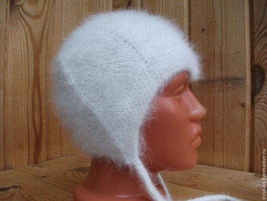 Шапки и шарфы ручной работы. Ярмарка Мастеров - ручная работа. Купить Шапочка из пуха кролика для малыша шапка теплая. Handmade.